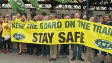 Southern guards on picket line