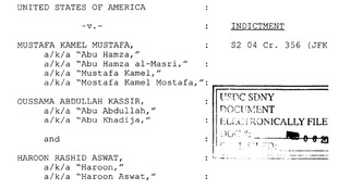The indictment against Abu Hamza