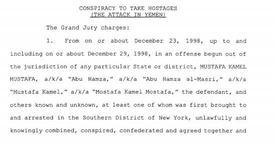 Count One of the indictment against Abu Hamza