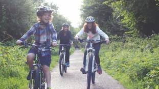 Cycling in Cardinham Woods