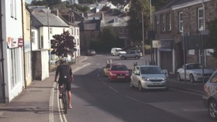 Cyclist in Bodmin
