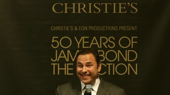 David Walliams at Christie's 50 Years of James Bond Sale.