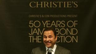 David Walliams at Christie's 50 Years of James Bond Sale.