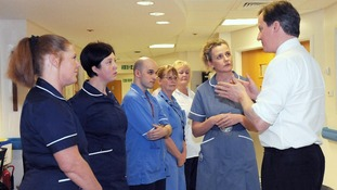 Prime Minister David Cameron meets nursing staff in Blackpool earlier this year.