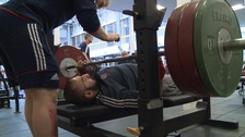 Power lifter Ali Jawad hopes to land Olympic or Paralympic gold.