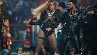 Beyonce in action on stage