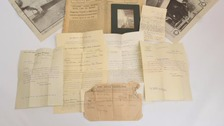 The collection of letters due to be sold.