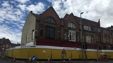 Darlington Civic Theatre as work begins
