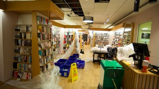 Waterstones bookshop has lost £9,000 worth of books after it was flooded during the torrential rain that hit the Midlands