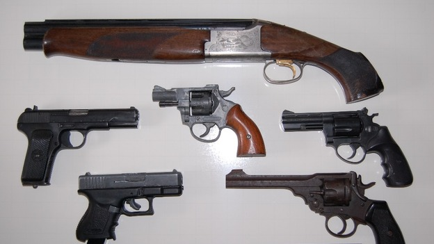 Firearms recovered by police