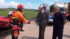 The Duke of Kent meeting the team