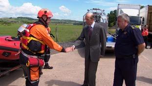 The Duke of Kent meeting the team