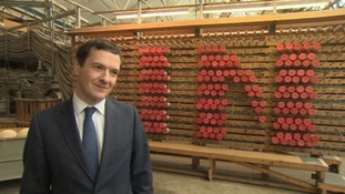 Chancellor at carpet firm on the EU campaign trail