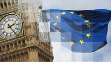 55% of MPs in the Anglia region are voting in the European Union and 45% to leave.