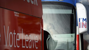 Leave and Remain buses