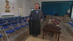 The Isles of Scilly returning officer with one of the ballot boxes