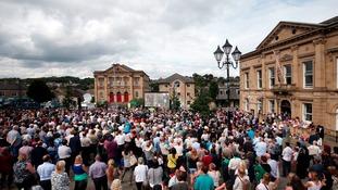 Crowds at Batley birthday tribute