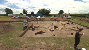 Experts unearth an ancient site near Exeter