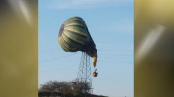 A hot air balloon crash