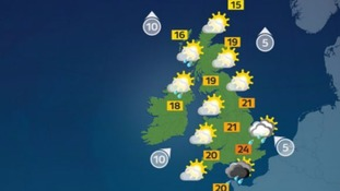 It will still feel muggy with highs of 24C.