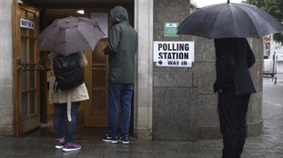 A polling station in north London.