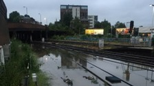 Severe weather disruption on routes through South East and London