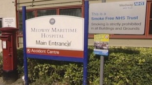 Sign at Medway Maritime Hospital