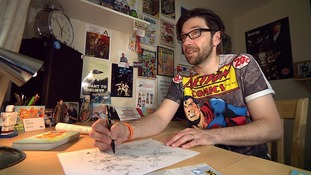 Cartoonist inspired by daughter with spina bifida creates comic strip where disabled superheroes save the world