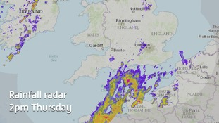 More thundery showers are heading northeastwards across the Channel towards the Anglia region.