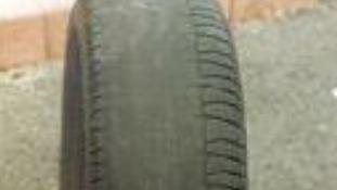Bald tyre