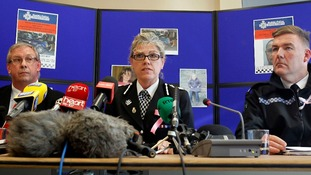 CPS's Iwan Jenkins, Dyfed-Powys Police Chief Constable Jackie Roberts and Dyfed-Powys Police Superintendent Ian John attend