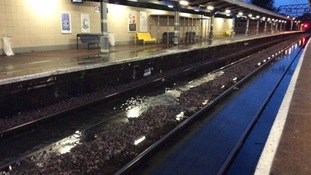 Severe flooding affects commuters travelling from Norfolk, Suffolk and Essex in London