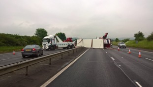 Recovery in progress on M40 between junction 6 and 7, Oxfordshire. Expect long delays.