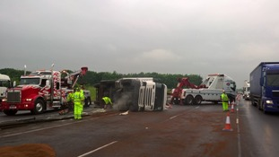 TVP lorry overturned