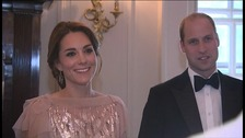 The Duke and Duchess of Cambridge at a gala charity dinner at Houghton Hall.