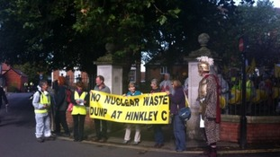 Protest against nuclear plans for Somerset
