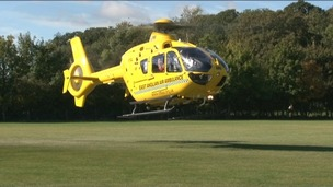 The East Anglian Air Ambulance&#x27;s latest helicopter