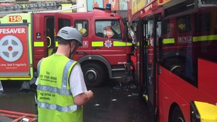 Emergency services attend the scene
