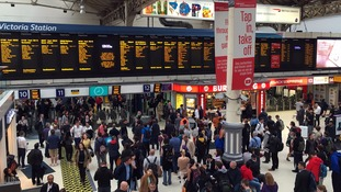 Commuters at Victoria Station