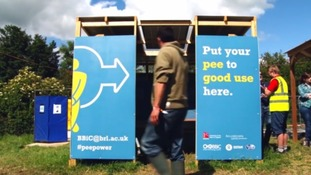 Glastonbury loos powered by pee