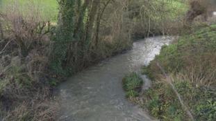 The river that runs through the Glastonbury Festival site