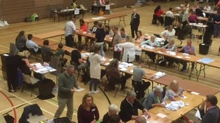 Votes being counted in Workington