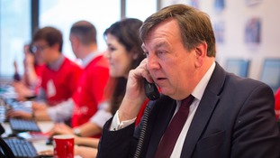 Culture Secretary John Whittingdale joins activists canvassing voters by phone following the launch of the Vote Leave campaign