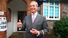 Nigel Farage 'happy' with North East EU results
