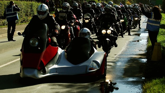 Thousands of bikers made the pilgrimage to the National Memorial Arboretum, Alrewas, Staffordshire