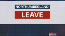 Northumberland votes to leave the EU