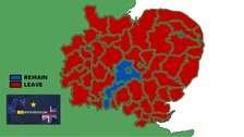 The referendum result in your area - district-by district