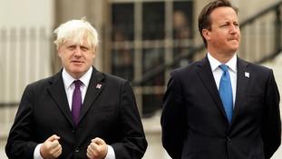 Mayor of London Boris Johnson (left) and Prime Minister David Cameron.