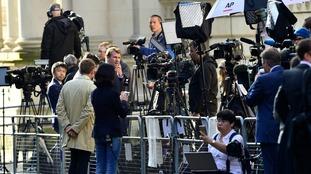 Dozens of journalist outside 10 Downing Street