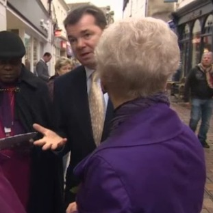 Guy Opperman talking to voters